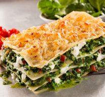 Lasagna vegetariana con champiñones y calabacines